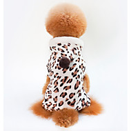 Dogs Cats Coat Winter Dog Clothes Brown Costume Dalmatian Pug Bichon Frise 100% Coral Fleece Leopard Casual / Daily Warm Ups S M L XL XXL