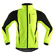 economico -Arsuxeo Per uomo Giacca da ciclismo Bicicletta Giacca di pelle / Inverno Giacche in pile / Fleece / Top Antivento, Tenere al caldo, Traspirante Strisce Poliestere, Elastene, Vello Inverno Arancione
