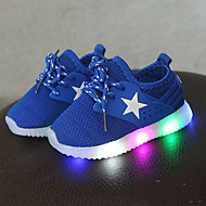 abordables -Chico / Chica LED / Confort / Zapatos con luz Malla Zapatillas de deporte Con Cordón / LED Negro / Azul / Rosa Primavera & Otoño