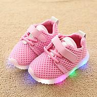 رخيصةأون -للفتيات LED / مريح / أحذية مضيئة شبكة أحذية رياضية طفل (9M-4ys) / الأطفال الصغار (4-7 سنوات) ربطة و حلقة / LED أبيض / أسود / زهري ربيع & الصيف