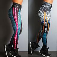 cheap -Women's High Waist Yoga Pants Winter Print Blue Black Spandex Running Fitness Gym Workout Tights Leggings Sport Activewear Push Up Butt Lift Tummy Control High Elasticity Skinny