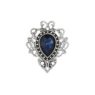 Women's Brooches Stylish Hollow Out Creative Pear Ladies Elegant British Imitation Diamond Brooch Jewelry Dark Blue Green Wine For Prom Holiday Promise