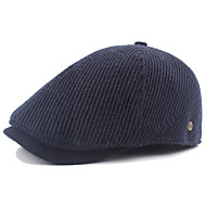 Men's Basic Polyester Beret Hat-Solid Colored Black Navy Blue Gray