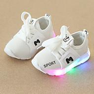 abordables -Chico / Chica LED / Confort / Zapatos con luz Malla Zapatillas de deporte Niño pequeño (9m-4ys) / Niños pequeños (4-7ys) Con Cordón / LED Negro / Blanco / Rojo Primavera & Otoño