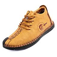 رجالي أحذية الراحة PU الخريف كاجوال أحذية رياضية غير الانزلاق أسود / أصفر / كاكي