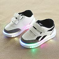 abordables -Chico / Chica LED / Confort / Zapatos con luz PU Zapatillas de deporte Niño pequeño (9m-4ys) / Niños pequeños (4-7ys) Cierre Autoadherente / LED Negro / Blanco Otoño invierno