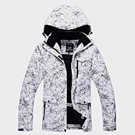 preiswerte -ARCTIC QUEEN Damen Skijacke warm halten Wasserdicht Windundurchlässig Skifahren Winter Sport Draußen Winterjacken Skikleidung / Blumen Pflanzen