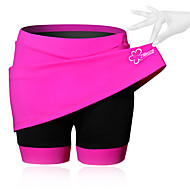 SPAKCT Women's Cycling Skirt Bike Shorts / Skirt / Padded Shorts / Chamois Breathable, 3D Pad Solid Colored, Patchwork, Classic Spandex Black / Blue / Pink Advanced Mountain Cycling Semi-Form Fit