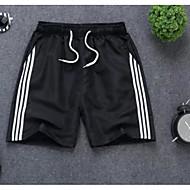 ราคาถูก -สำหรับผู้ชาย พื้นฐาน ขนาดพิเศษ ไปเที่ยว กางเกงขาสั้น กางเกง - ลายบล็อคสี สายผูก ขาว สีดำ ส้ม S / M / L
