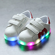 abordables -Chico / Chica LED / Confort / Zapatos con luz PU Zapatillas de deporte Cierre Autoadherente / LED Negro / Dorado / Rojo Primavera & Otoño