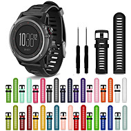 cheap -Watch Band for Fenix 3 HR / Fenix 3 Sapphire / Fenix 3 Garmin Sport Band Silicone Wrist Strap