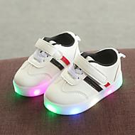 abordables -Chico / Chica LED / Confort / Zapatos con luz PU Zapatillas de deporte Niño pequeño (9m-4ys) / Niños pequeños (4-7ys) Cierre Autoadherente / LED Negro / Verde / Rojo Primavera & Otoño