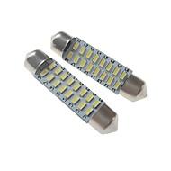 baratos -SENCART 2pcs 41mm Carro Lâmpadas 3 W SMD 3014 120-160 lm 16 LED Iluminação interior / luzes exteriores Para