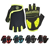 Bike Gloves / Cycling Gloves Mountain Bike Gloves Mountain Bike MTB Road Bike Cycling Breathable Anti-Slip Shockproof Sweat-wicking Fingerless Gloves Half Finger Sports Gloves SBR Lycra Mesh Black