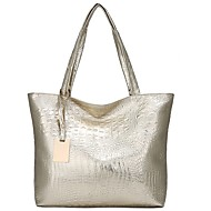 Women's Embossed PU Tote Crocodile Black / Gold / Silver / Fall & Winter