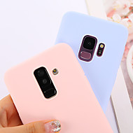 Case For Samsung Galaxy S9 / S9 Plus / S8 Plus Ultra-thin Back Cover Solid Colored Soft TPU