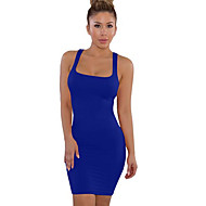Women's Daily Shift Dress - Solid Colored Strap Red Wine Royal Blue M L XL