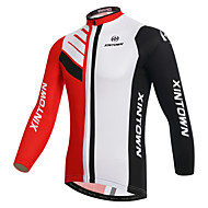 XINTOWN Men's Long Sleeve Cycling Jersey Winter Fleece Elastane White Bike Jersey Top Mountain Bike MTB Road Bike Cycling Breathable Quick Dry Ultraviolet Resistant Sports Clothing Apparel / Stretchy
