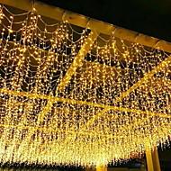 4m strenglamper 96 lysdæper gardin lys varm hvid blå hvid rgb 8 tilstande jul dekorativ havehaven dekoration lampe udendørs vandtæt 220-240 v 110v-120 1 sæt
