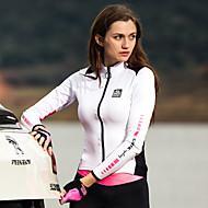 povoljno -SANTIC Žene Dugih rukava Biciklistička majica Zima Poliester White+Pink Jedna barva Bicikl Jakna Biciklistička majica Majice Brdski biciklizam biciklom na cesti Ugrijati Quick dry Ultraviolet