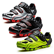 SANTIC Mountain Bike Shoes Nylon Anti-Slip, Fast Dry, Ultra Light (UL) Cycling Black / White / Black / Red / fluorescent green Men's / Breathable Mesh / Breathable / Hook and Loop