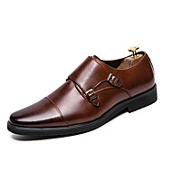 Men's Formal Shoes Leather Fall / Fall & Winter Business Oxfords Walking Shoes Non-slipping Black / Light Brown / Party & Evening / Party & Evening