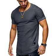 Men's Daily Basic T-shirt - Solid Colored Round Neck Gray / Short Sleeve