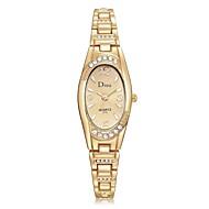 Women's Wrist Watch Diamond Watch Gold Watch Quartz Silver / Gold / Rose Gold New Design Casual Watch Imitation Diamond Analog Ladies Fashion Elegant - Silver / Black Rose Gold Gold / White One Year