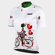 cheap -21Grams Women's Short Sleeve Cycling Jersey White Purple Blue Floral Botanical Bike Jersey Breathable Quick Dry Anatomic Design Ultraviolet Resistant Back Pocket Sports Floral Botanical Mountain Bike