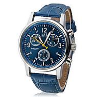 Men's Wrist Watch Quartz Black / White / Blue Casual Watch Analog Casual - White Black Blue One Year Battery Life