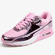 ราคาถูก -สำหรับผู้หญิง รองเท้ากีฬา ส้นแบน Synthetics / Tissage Volant Sporty / ไม่เป็นทางการ สำหรับวิ่ง ฤดูใบไม้ผลิ & ฤดูใบไม้ร่วง สีดำ / สีทอง / สีเงิน