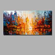 Hang-Painted öljymaalaus Maalattu - Abstrakti Maisema Comtemporary Moderni Sisällytä Inner Frame / Valssatut kankaat / Venytetty kangas