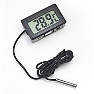 abordables -Thermomètre intégré numérique lcd lecture instantanée affichage de surveillance d'aquarium de réfrigérateur avec détecteur étanche sonde portable thermomètre de réfrigérateur
