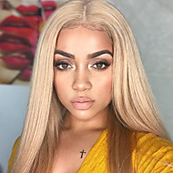 Virgin Human Hair Remy Human Hair Lace Front Wig Gaga style Peruvian Hair Straight Two Tone Wig 150% Density with Baby Hair Silky Ombre Hair Natural Hairline With Bleached Knots Women's Long Human