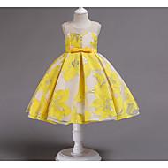 Kids Girls' Sweet Floral Bow Sleeveless Dress Blushing Pink