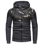 Men's Sports Long Sleeve Hoodie - Camo / Camouflage Hooded Black M / Winter