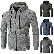 cheap -Men's Zipper Track Jacket Classic Running Fitness Gym Workout Hoodie Top Long Sleeve Activewear Windproof Stretchy Slim
