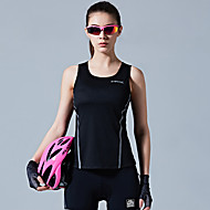 SANTIC Women's Sleeveless Sports Tank Top Black Sky Blue Solid Color Bike Vest / Gilet Winter Sports Polyester Solid Color Mountain Bike MTB Road Bike Cycling Clothing Apparel / Stretchy