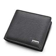 Men's Nappa Leather Wallet Solid Color Black / Brown / Fall & Winter