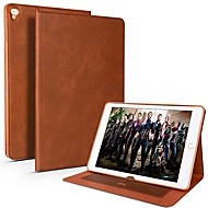 cheap -Case For Apple iPad Air / iPad 4/3/2 / iPad Mini 3/2/1 Card Holder / Shockproof / Water Resistant Full Body Cases Solid Colored Soft PU Leather / TPU / iPad Pro 10.5 / iPad (2017)