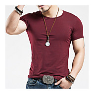 16de126651d78 Men s Sports Active   Basic Cotton Slim T-shirt - Solid Colored Round Neck