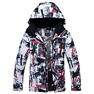 Men's Ski Jacket Windproof Rain Waterproof Warm Winter Sports Polyester Winter Jacket Top Ski Wear