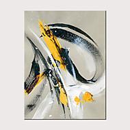 Pintura a Óleo Pintados à mão - Abstrato Clássico Modern Sem armação interna / Lona Laminada