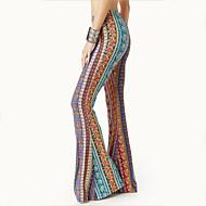 cheap -Hippie Disco Retro Vintage 1960s Hippie 1970s Disco Pants Women's Cotton Costume Print / Yellow / Ink Blue Vintage Cosplay