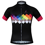 JESOCYCLING Women's Short Sleeve Cycling Jersey Black Bike Jersey Top Mountain Bike MTB Road Bike Cycling Breathable Moisture Wicking Quick Dry Sports 100% Polyester Clothing Apparel / Stretchy