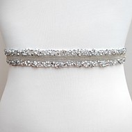 Poly / Cotton Blend Wedding / Special Occasion Sash With Rhinestone Women's Sashes