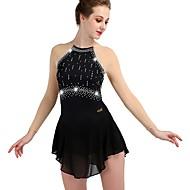 Πατινάζ για φιγούρες Φόρεμα Κρύσταλλοι / Στρας Γυναικεία Κοριτσίστικα Εκπαίδευση Μακρυμάνικο Ψηλό Chinlon Τούλι