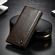 غطاء من أجل Samsung Galaxy S9 Plus محفظة / حامل البطاقات / مع حامل غطاء كامل للجسم لون سادة قاسي جلد PU