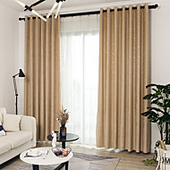 Modern Blackout Curtains Drapes Two Panels Curtain / Jacquard / Bedroom