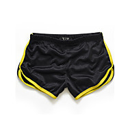 cheap -Men's Sporty Active Sport Casual Sports Slim Shorts Pants - Color Block Solid Colored Summer White Black Yellow M / L / XL